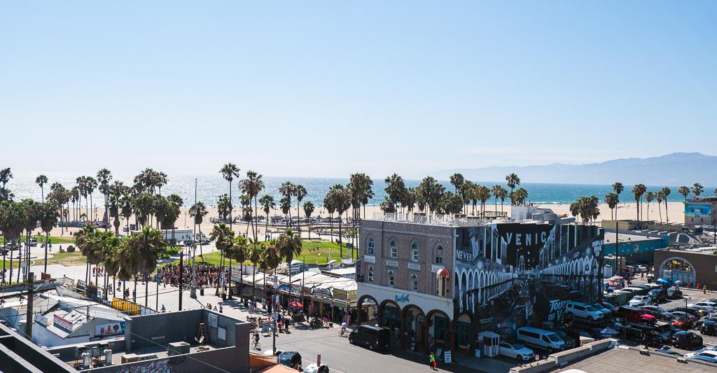 vue du roof top Erwin à Venice Beach