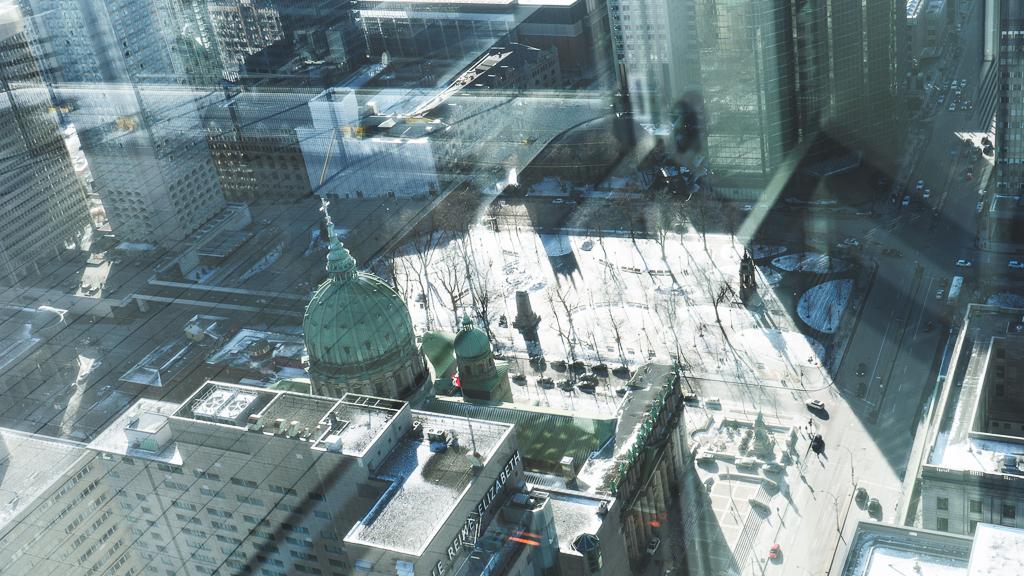 vue des rues de Montréal