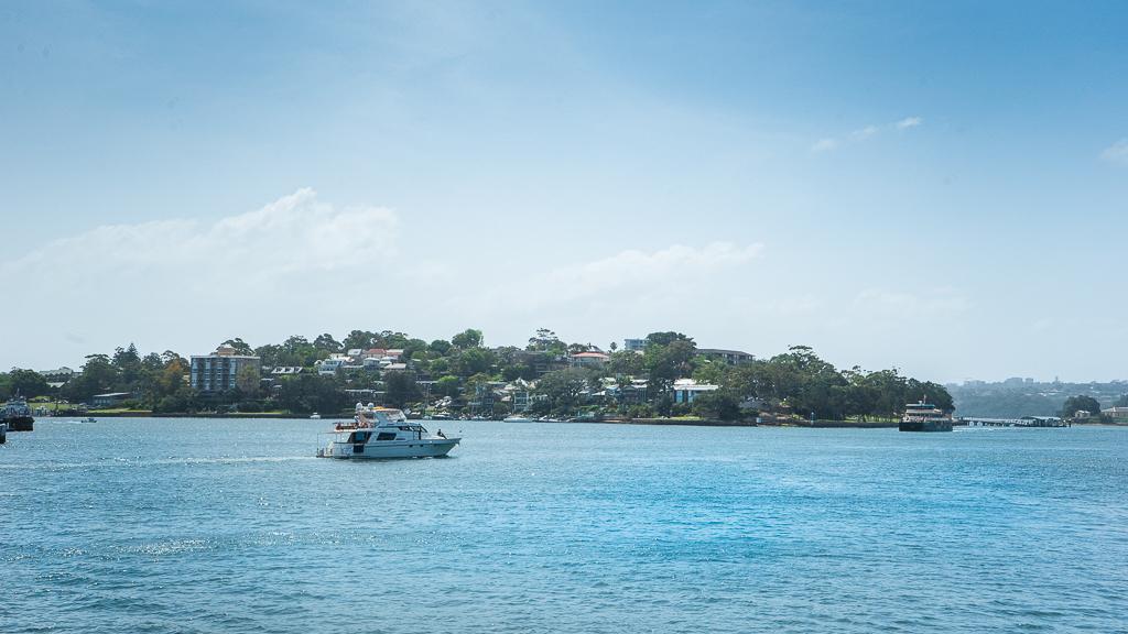 un bateau dans la baie de Sydney