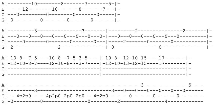 ben howard - old pine - ukulele tab