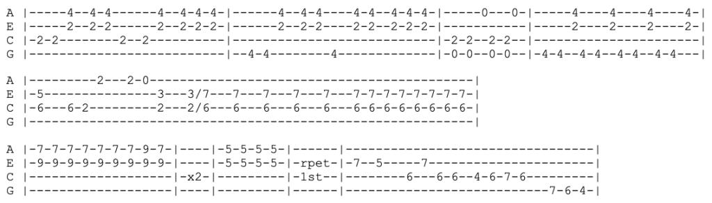 foo fighters - everlong - ukulele tab