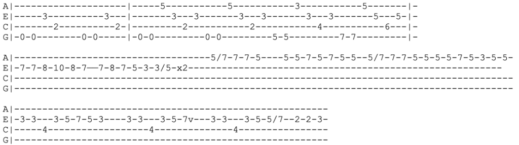 green day - time of your life - ukulele tabs