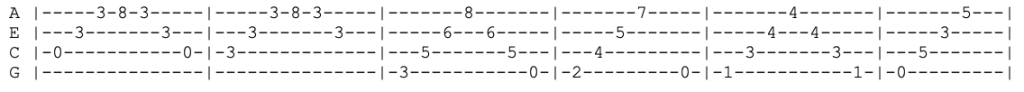 soundgarden - black hole sun - ukulele tab