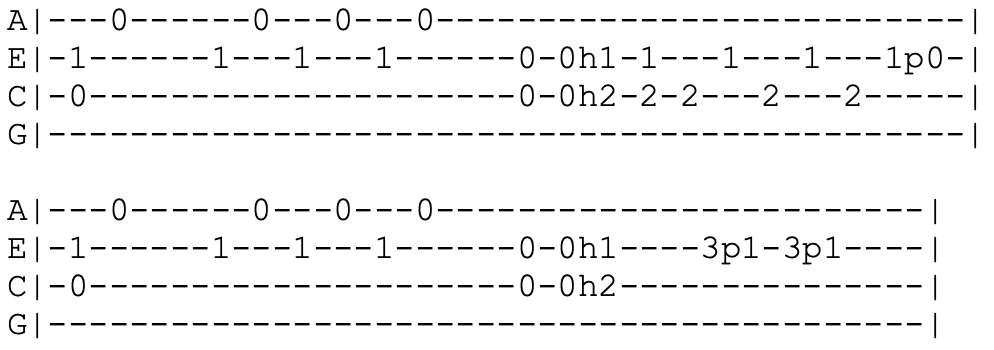 red hot chili peppers - scar tissue - ukulele tabs