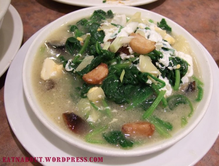 Lam Chu Kee: Spinach with Salted Duck Egg and 1000-Year Egg