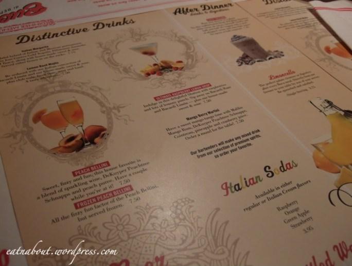 Buca di BEPPO drinks menu