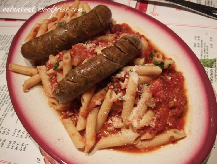 Buca di BEPPO: Penne Arrabbiata with Spicy Italian Sausage