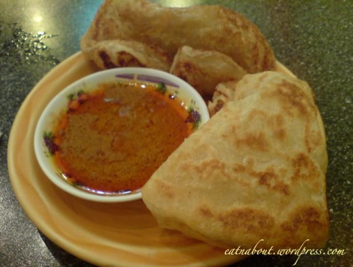 ellie Tropical Cuisine: roti and curry dip