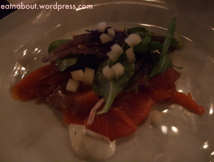 Granville Room: Soy cured Sockeye Salmon