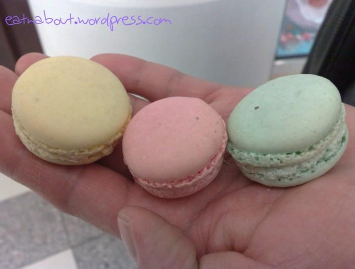 Saint Germain Bakery: Lemon, Strawberry and Pistachio Macarons