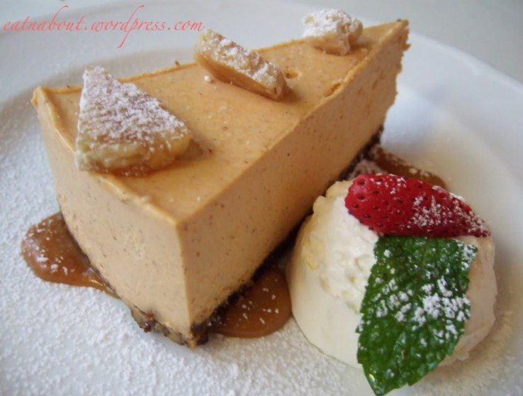 The Fish House at Stanley Park: Pumpkin Cheesecake