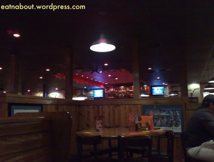 The Outback Steakhouse interior