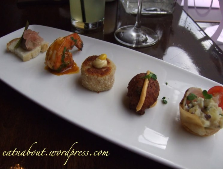 Regional Tasting Lounge: canapes selection