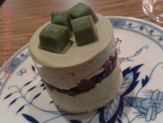 Berry Good Cafe: Green Tea Cheese Mousse