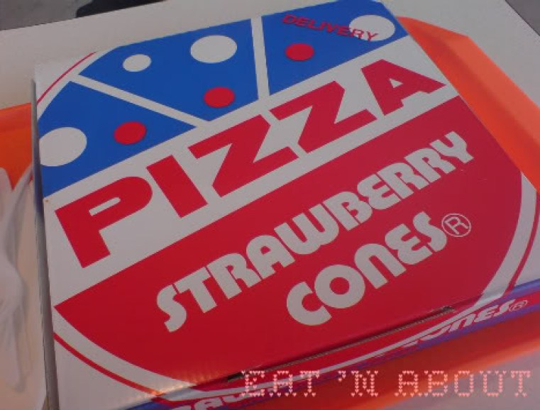 Strawberry Cones pizza