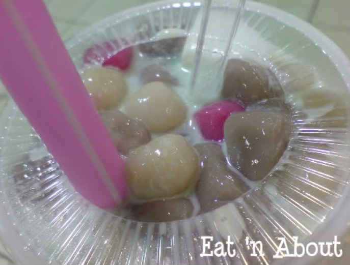 Cherry Fruit Juice & Icy Bar: glutinous rice balls