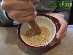 Ichiro Japanese Restaurant: Grind-your-own sesame seeds for dip