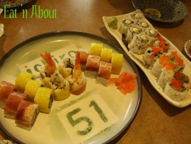 Ichiro Japanese Restaurant: Ichiroll, Chopped Scallop Roll, and Steveston Roll