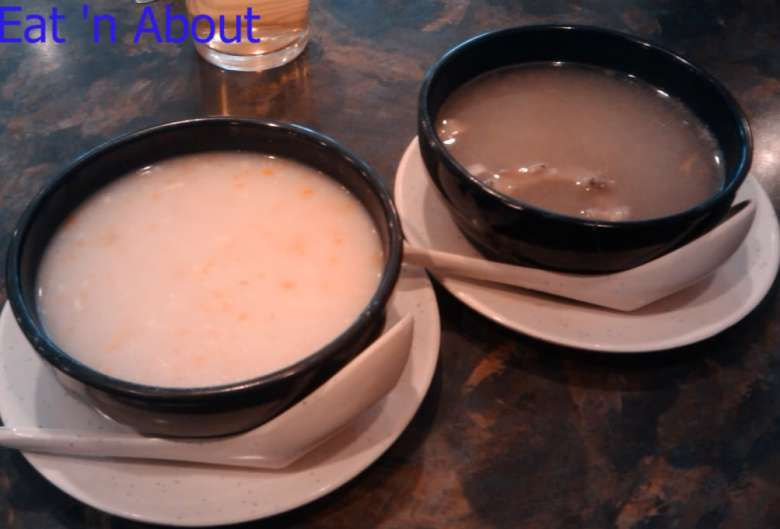 Alleluia Cafe: Cream of Corn with imitation Crab and Chinese-style soup