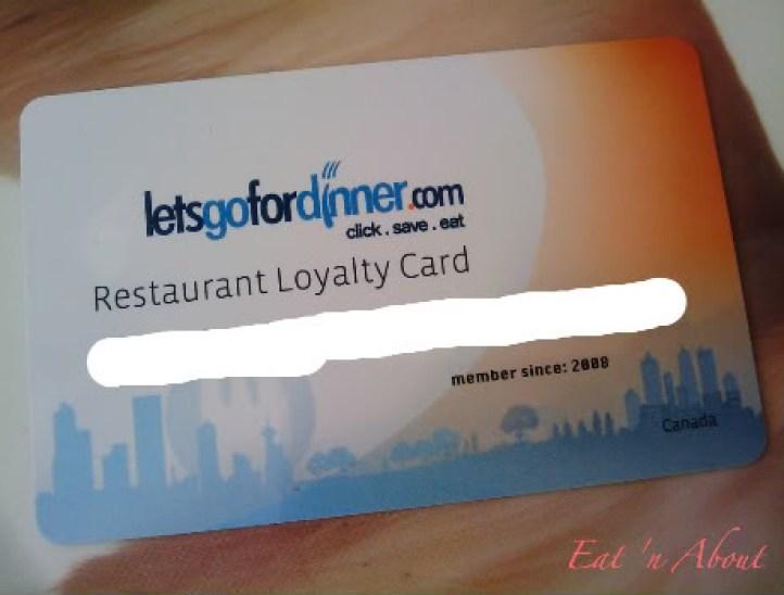 Lets Go For Dinner card