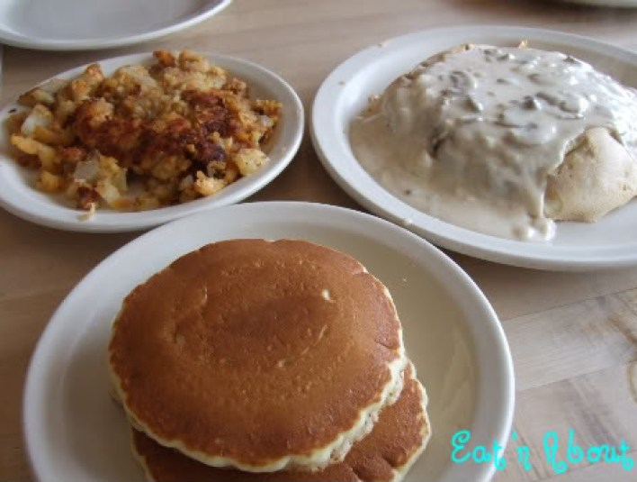 The Original Pancake House: homefries and pancakes