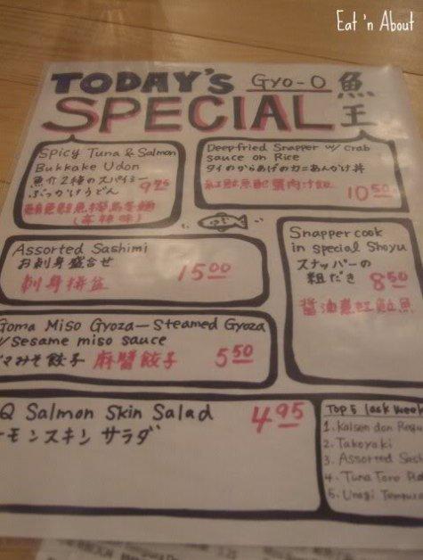 Gyo-O special menu
