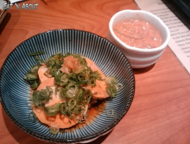 Sushi Hachi: Ankimo (Monkfish Liver) with Marinated Squid Guts Shiokara