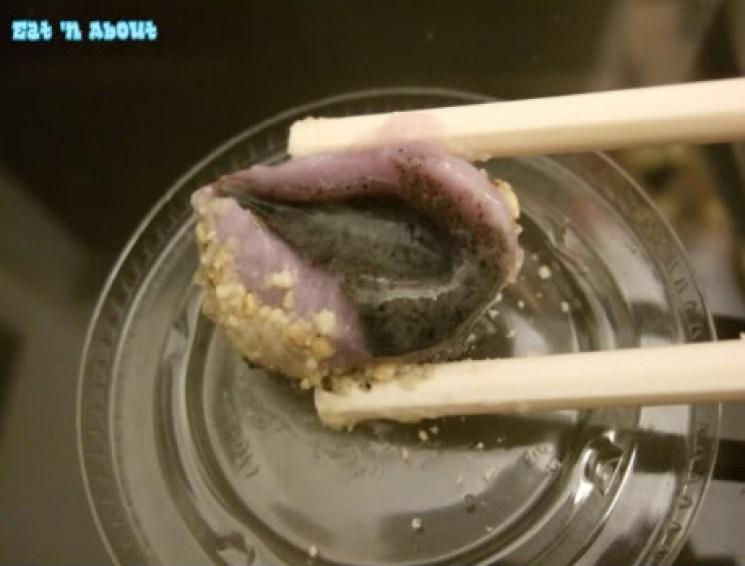 Bubble Queen: Taro with black sesame filling