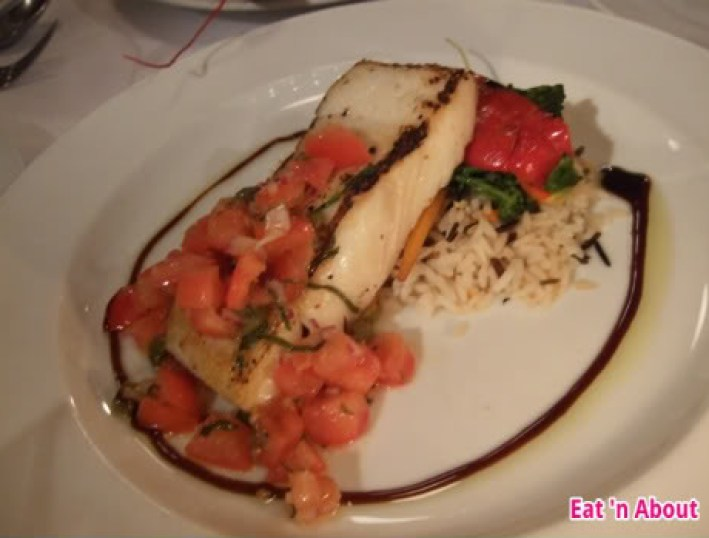 Water St. Cafe: Grilled halibut