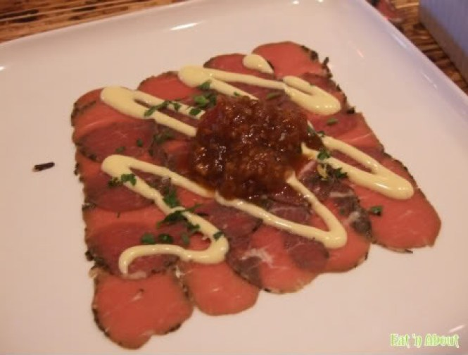 The Refinery: Lamb Carpaccio