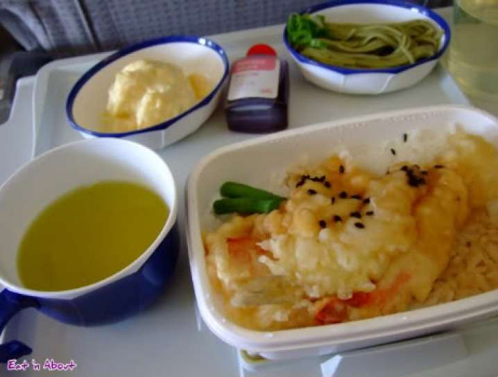 JAL: Sand-borer tempura with rice