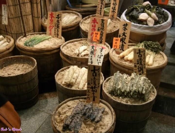 Nishiki, Kyoto: Preserved pickled vegetables