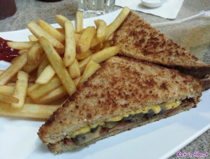 Sandwich on multigrain with fries at Kim Anh
