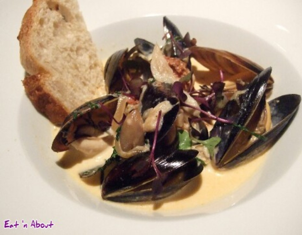 Raincity Grill: Salish sea mussels with white wine, confit garlic, and fresh herbs