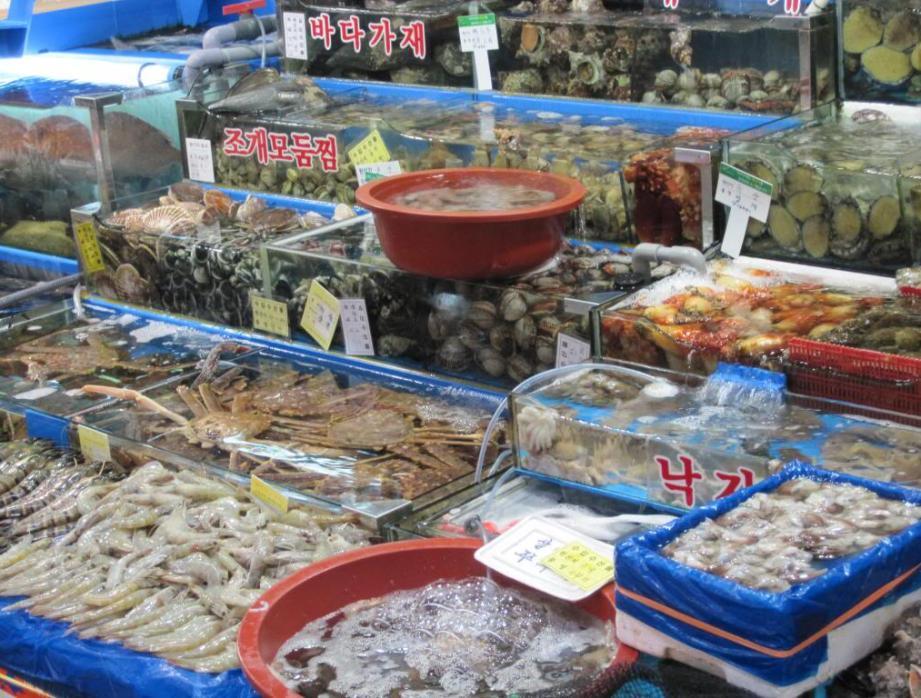 Noryangjin Fish Market in Seoul, South Korea
