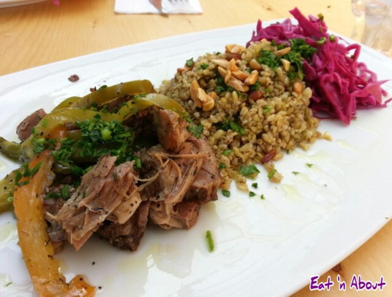 Tamam Fine Palestinian Cuisine: Freekeh with Roasted Lamb