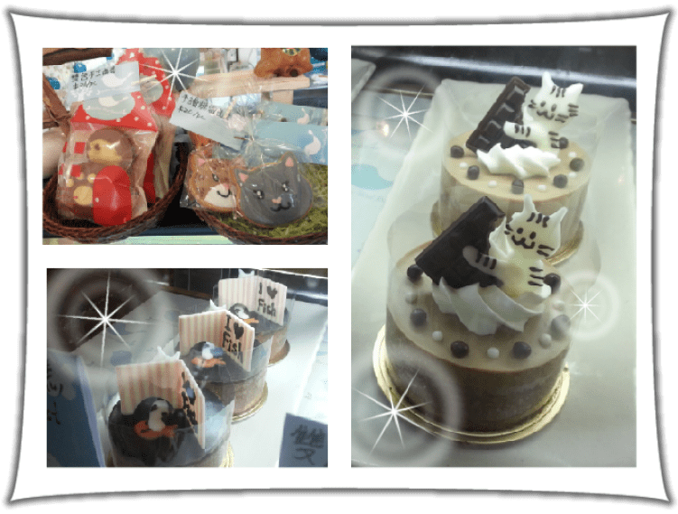 Cakes at Ah Meow Choco Cat cafe