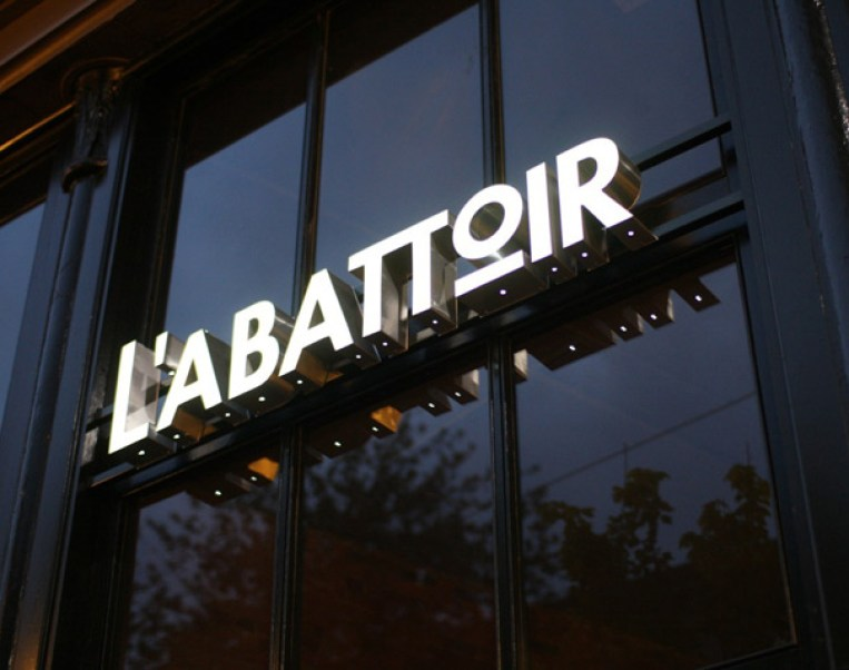 L'Abattoir sign