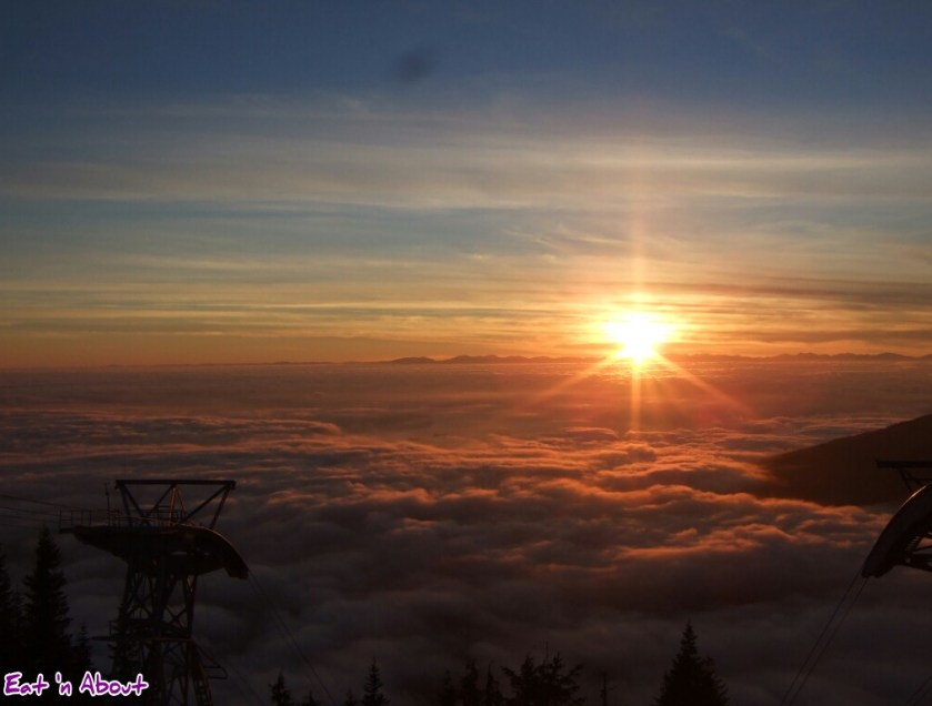 Sunset viewed from Grouse Mountain, Vancouver, BC