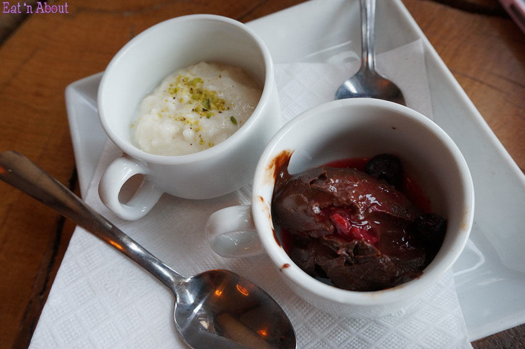 East is East - Vegan Chocolate Pudding and Cardamom Rice Pudding