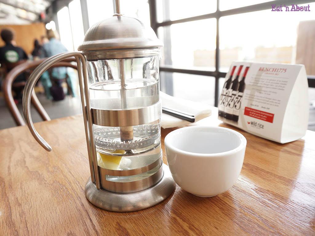 Wild Rice: hot lemon water