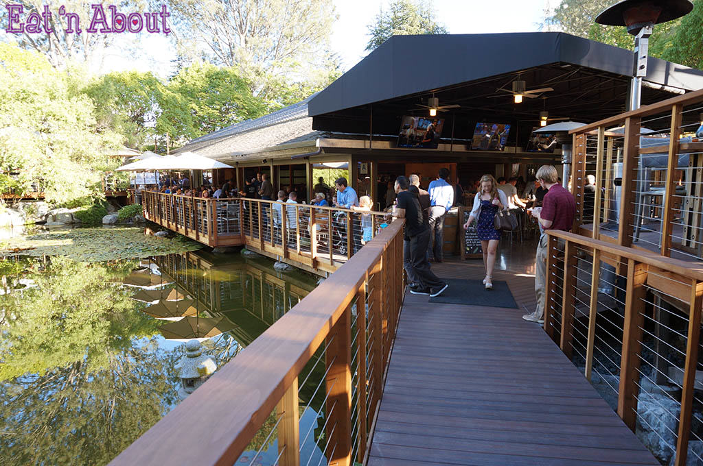 Karl Strauss Brewery & Gardens - pond and garden