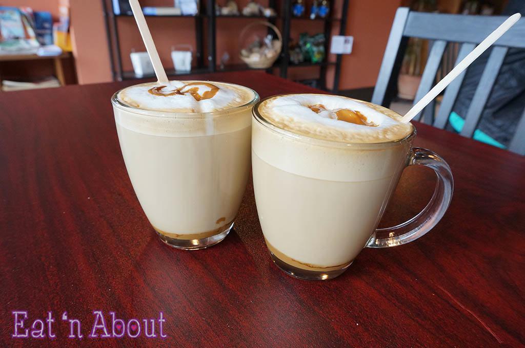 Saltenas Cafe and Pastries - Dulce de Leche Latte