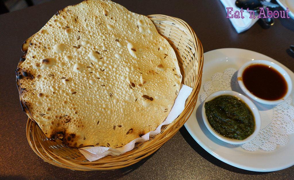 Palki Restaurant - Papadum Lentil Wafers