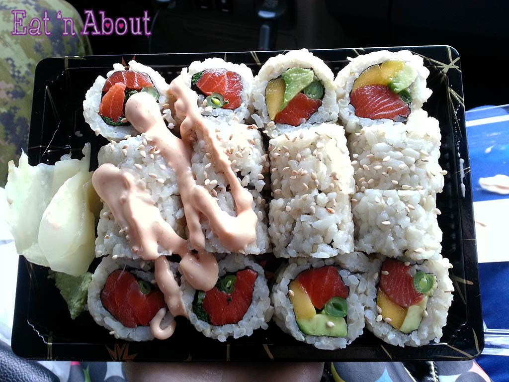 Aqua Sushi + Juice Bar - Spicy Wild Salmon Roll & Aqua Roll
