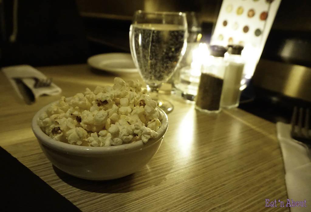 Biercraft Bistro pre-meal popcorn