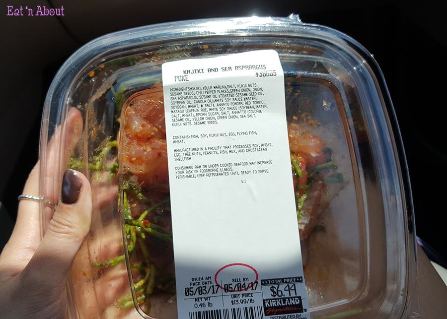Costco Kajiki and Sea Asparagus Poke