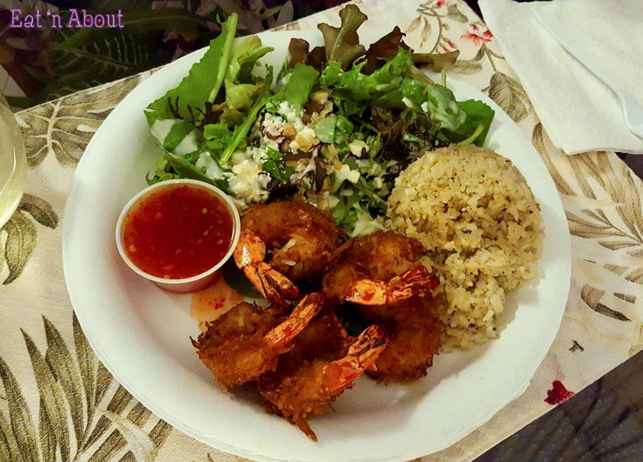 Kinaole Grill Food Truck - Coconut Shrimp Plate