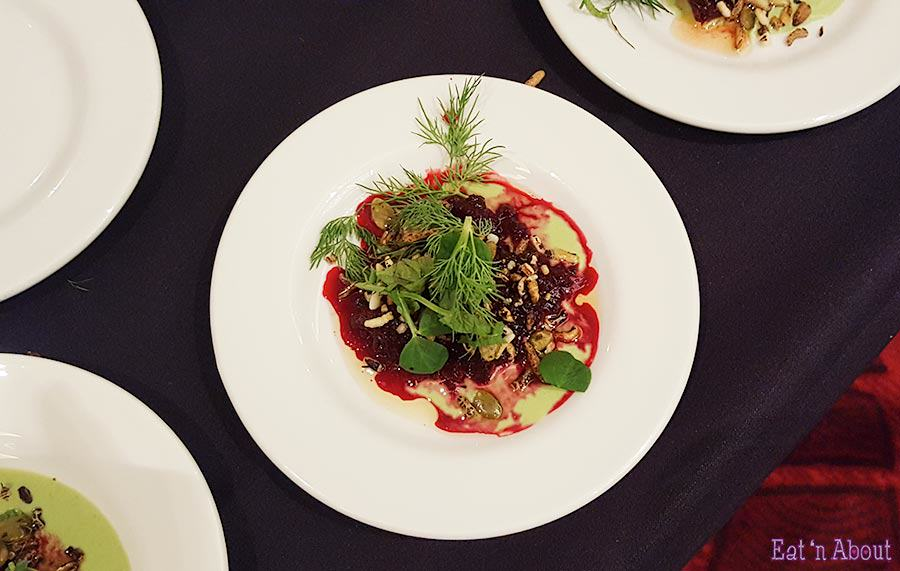 EAT! Harvest - Fable Kitchen Charred Beet with Creme Fraiche and Puffed Rice