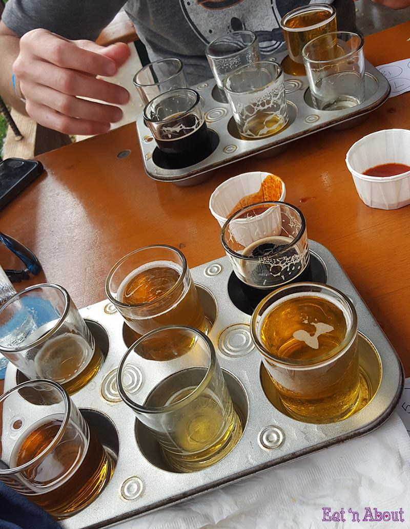 Maui Brewing Company flights